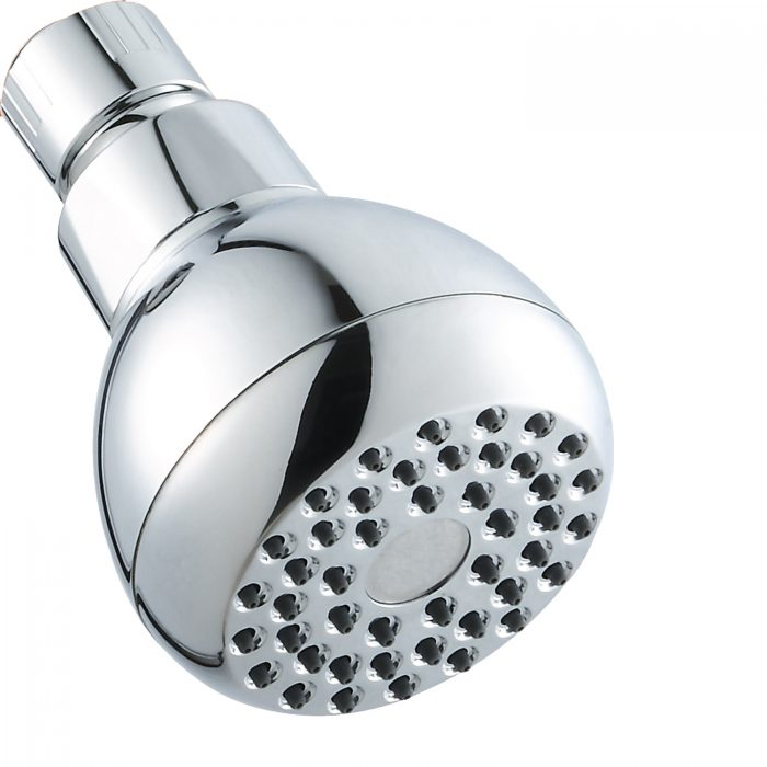 3 Inch Low Pressure Booster Shower Top Nozzle Small Shower Head Hotel Bath Pool Shower Hall Nozzle Water Saving Shower Head Plating Copper Head