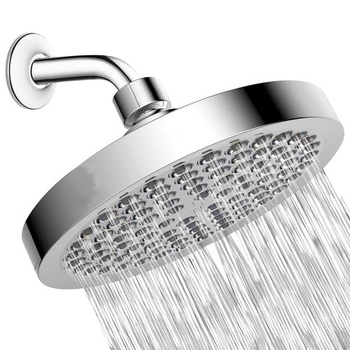 Shower Head – High Pressure Rain – Luxury Modern Chrome Look – Easy Tool Free Installation – The Perfect Adjustable Replacement For Your Bathroom Shower Heads