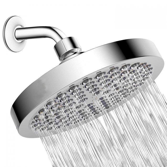 Shower Head - High Pressure Rain - Luxury Modern Chrome Look - Easy Tool Free Installation - The Perfect Adjustable Replacement For Your Bathroom Shower Heads