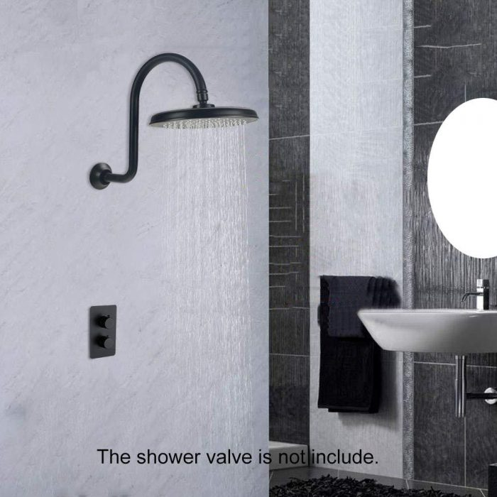 9 Inch Rainfall Shower Head with Shower Arm,Fixed Showerheads Set Wall Mounted,Oil Rubbed Bronze